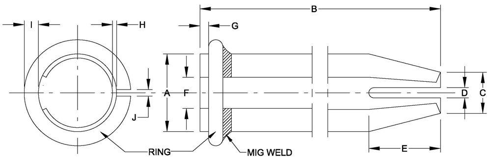 FB-39 SPLIT SET BOLT (Friction Stabilizer)